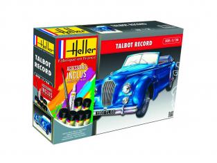 Heller maquette voiture 56711 Talbot Record inclus peintures principale colle et pinceau 1/24