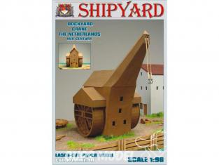 Shipyard MKL011 Grue de chantier naval Pays-Bas XVIIe siècle 1/96