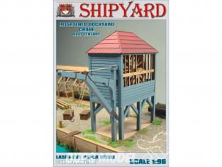 Shipyard MKL001 Grue de chantier maritime surélevée 1/96