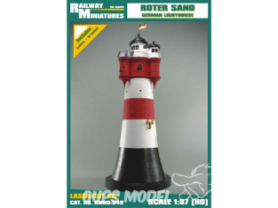 Railway Miniatures RMHO:049 Phare de Roter Sand Allemagne HO 1/87