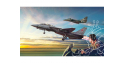 """Italeri maquette avion 1422 """"Top Gun"""" F-14A et A-4F 2 kits inclus 1/72"""