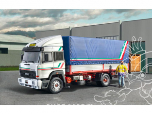 Italeri maquette camion 3939 IVECO TURBOSTAR 190-42 CANVAS avec Hayon 1/24