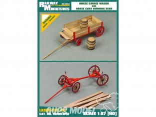 Railway Miniatures RMHO:040 Wagon à chevaux et charrette a bois HO 1/87
