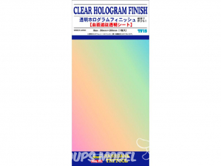 HASEGAWA TF15 PLAQUE FINITION Finition hologramme transparente 90x200mm