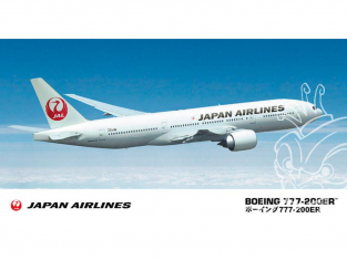Hasegawa maquette avion 10801 Japan Airlines Boeing 777-200ER 1/200