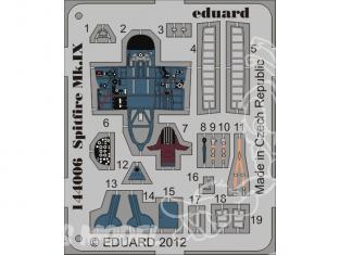 Eduard photodecoupe avion 144006 Spitfire Mk.IX Eduard 1/144