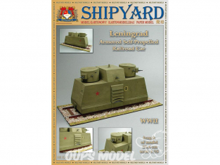 Shipyard MK:012 Draisine blindée Sovietique Leningrad 1/25