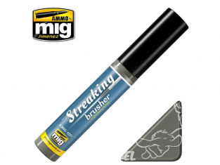 MIG Streakingbrusher 1251 Gris froid sale Moyen Peinture Streaking avec applicateur 10ml