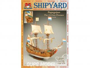Shipyard MK:005 Bateau Pinasse Papegojan 1624 1/96