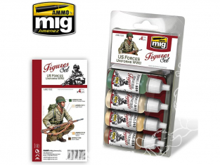 MIG peinture Figurines 7022 Set Uniformes US Forces WWII 4 x 17ml