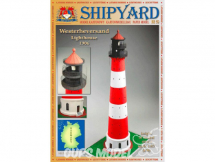 Shipyard MK:028 Phare de Westerheversand Allemagne HO 1/87