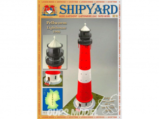 Shipyard MK:030 Phare de Pellworm Allemagne HO 1/87