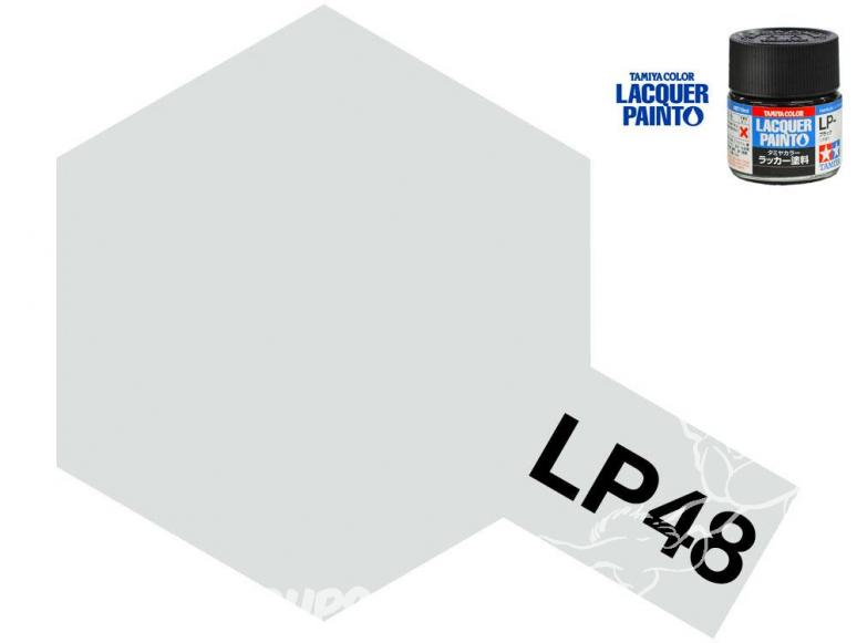 Peinture laque couleur Tamiya LP-48 ARGENT PÉTILLANT 10ml