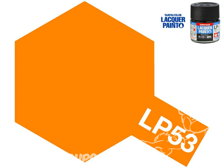 Peinture laque couleur Tamiya LP-53 ORANGE CLEAR 10ml