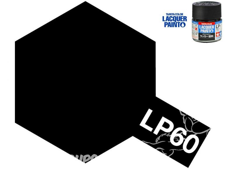 Peinture laque couleur Tamiya LP-60 NOIR OTAN 10ml