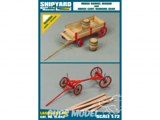 Shipyard ZL:042 Horse Wagon et chariot porte bois 1/72