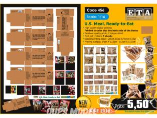 ETA diorama 456 Repas américain, prêt à manger 1/16