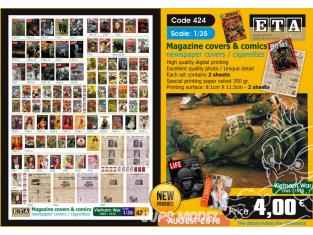 ETA diorama 424 couvertures de magazines et bandes dessinées guerre du vietnam 1/35