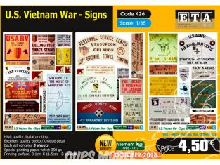 ETA diorama 426 Panneaux guerre du vietnam 1/35