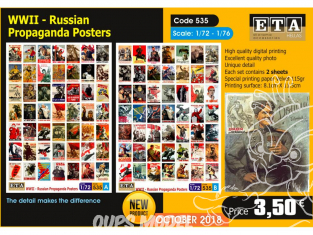 ETA diorama 535 Poster de propagande russe WWII 1/72