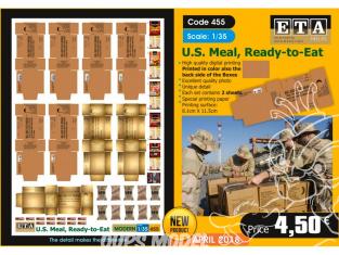 ETA diorama 455 Repas americain pret a manger moderne 1/35