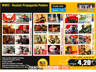 ETA diorama 536 Poster de propagande russe WWII 1/35