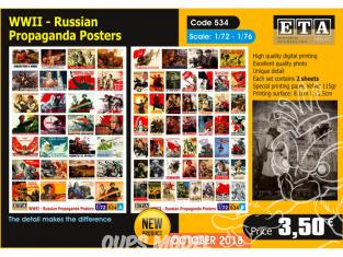 ETA diorama 534 Poster de propagande russe WWII 1/72