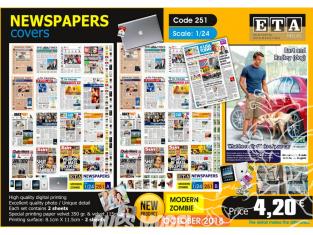 ETA diorama 251 Couvertures de journaux 1/24