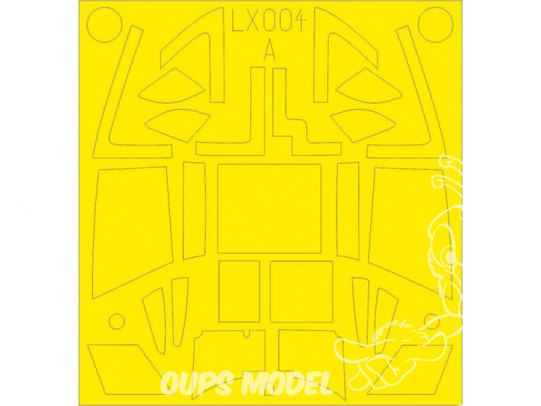 Eduard Express Mask LX004 Masques Mosquito FB Mk.VI TFace Airfix 1/24