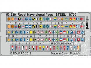 Eduard photodecoupe bateau 53230 Drapeaux de Signalisation Royal Navy Métal 1/700
