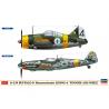 """Hasegawa maquette avion 02279 B-239 Buffalo et Messerschmitt Bf 109 G-6 """"Armée de l'air finlandaise"""" 1/72"""