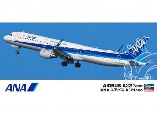 Hasegawa maquette avion 10827 ANA Airbus A 321ceo 1/200