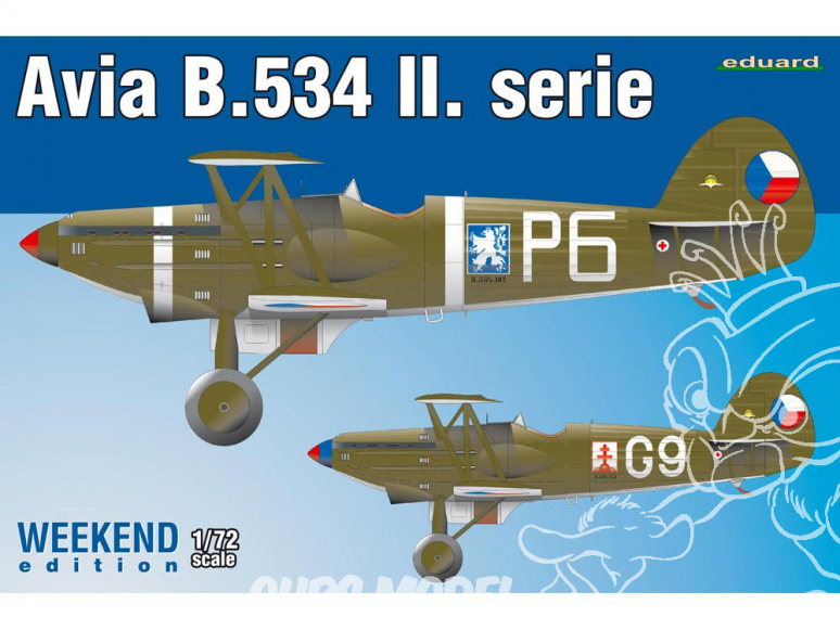 EDUARD maquette avion 7448 Avia B.534 II. Série WeekEnd Edition 1/72