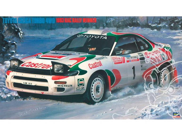 "Hasegawa maquette voiture 20358 Toyota Celica Turbo 4WD ""Voiture championne du rallye 1993"" 1/24"