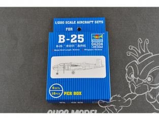 TRUMPETER maquette avion 04204 Set de 5 avions B-25 MITCHELL 1/200