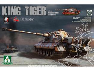 Takom maquette militaire 2047S King Tiger Henschel Zimmerit Pz.Abt.505 intérieur détaillé chenilles maillons maillons 1/35