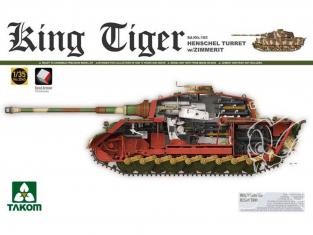 Takom maquette militaire 2045S King Tiger tourelle Henschel avec Zimmerit intérieur détaillé chenilles maillons maillons 1/35