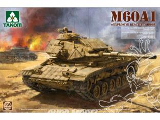 "Takom maquette militaire 2113 US M60A1 MEDIUM CHAR MOYEN avec protection ""ERA"" US MARINES CORPS 1985 1/35"