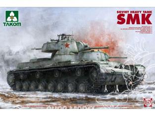 """Takom maquette militaire 2112 CHAR LOURD SOVIÉTIQUE """"SMK"""" 1939 1/35"""