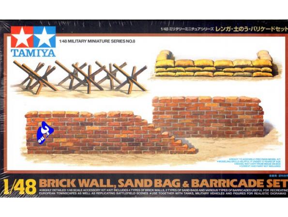 TAMIYA maquette militaire 32508 Barricades sacs de sables murs 1