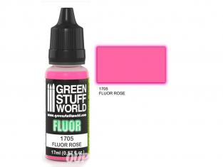 Green Stuff 500646 Peinture Fluor ROSE 17ml