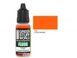 Green Stuff 500622 Peinture Fluor ORANGE 17ml
