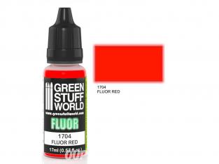 Green Stuff 500639 Peinture Fluor ROUGE 17ml
