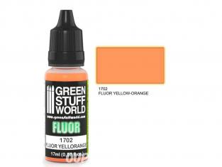 Green Stuff 500615 Peinture Fluor JAUNE-ORANGE 17ml