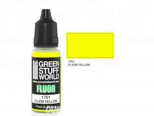 Green Stuff 500608 Peinture Fluor JAUNE 17ml