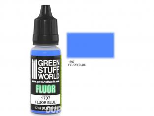 Green Stuff 500660 Peinture Fluor BLEUE 17ml