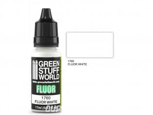 Green Stuff 501193 Peinture Fluor BLANCHE17ml