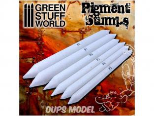 Green Stuff 500493 Set 6x Estompes pour pigments