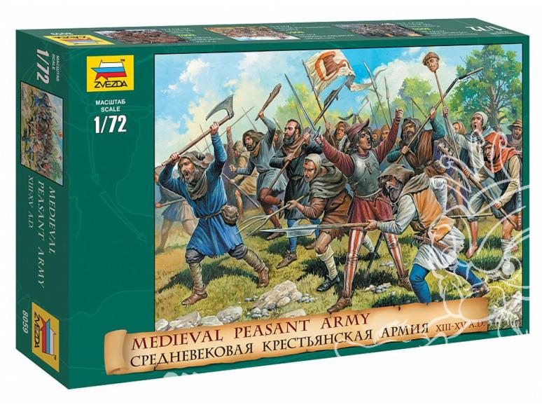 Zvezda maquette plastique 8059 Paysants Soldats 1/72