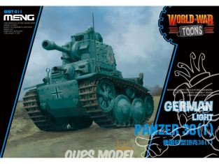Meng maquette militaire WWT-011 A Foreign-made German Tank SERIE WORLD WAR TOON